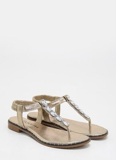 F By Fabrika Kadın Altın Sandalet ANETA Altın